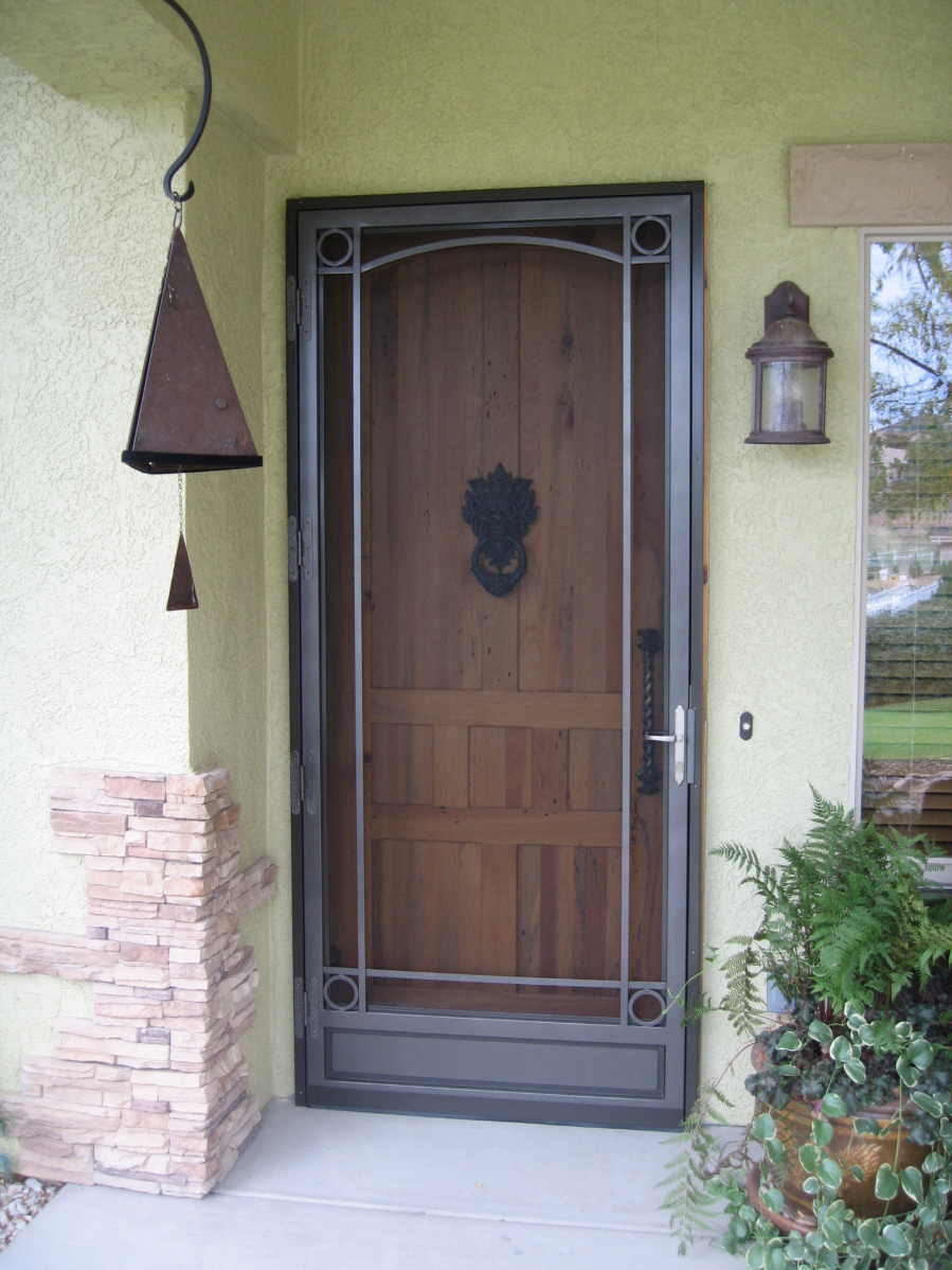 Security Storm Doors Product : Iron storm doors security door style options classic